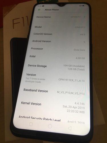 oppo f11 smartphone ram memori