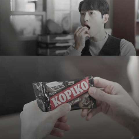 drama korea so joong ki makan kopiko